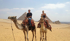 Sunrise or Sunset Camel ride at the Pyramids