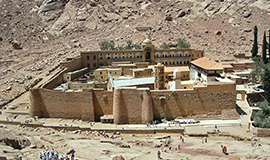 St. Catherine Monastery and Colored Canyon from Sharm